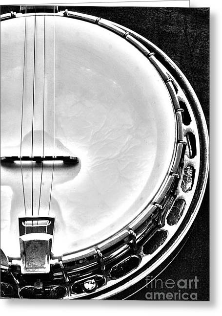 Resonator Greeting Cards - 60s Gibson Banjo Greeting Card by Micah May