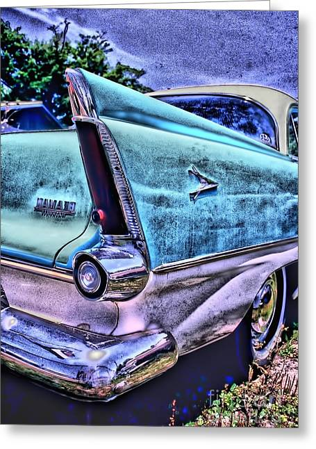 Photographers Decatur Greeting Cards - 60s Plymouth Greeting Card by Corky Willis Atlanta Photography