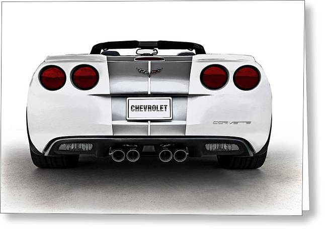 White Chevy Greeting Cards - 60th Anniversary Corvette Greeting Card by Douglas Pittman