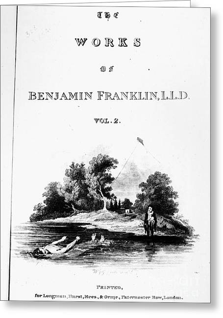 Book Title Greeting Cards - Benjamin Franklin (1706-1790) Greeting Card by Granger