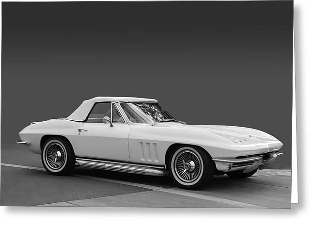 Slammer Greeting Cards - 65 Corvette Roadster Greeting Card by Bill Dutting
