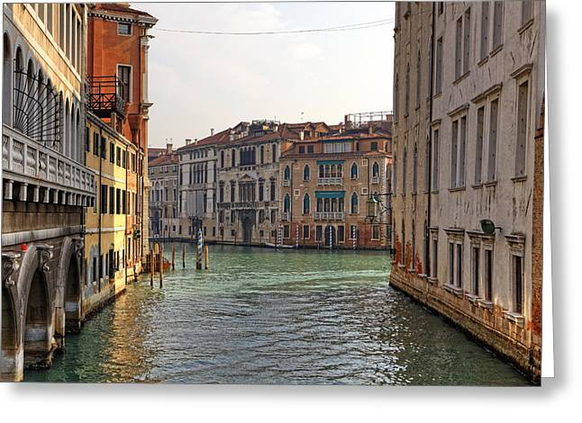 Venetian Canals Greeting Cards - Venezia Greeting Card by Joana Kruse
