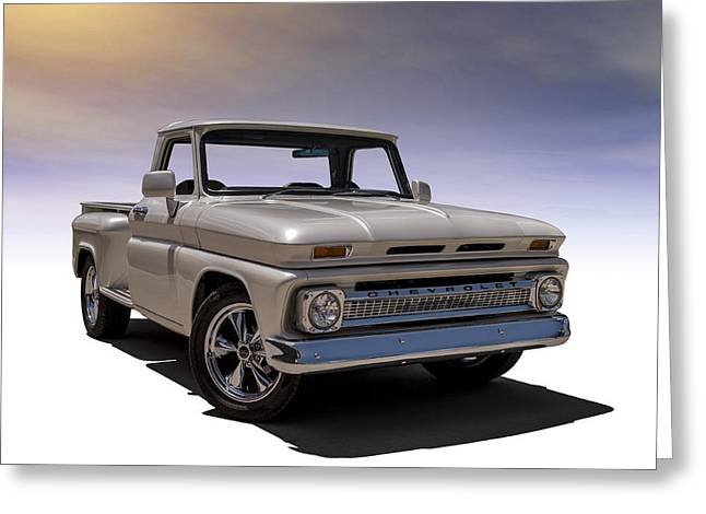 Chevy Pickup Greeting Cards - 66 Chevy Pickup Greeting Card by Douglas Pittman