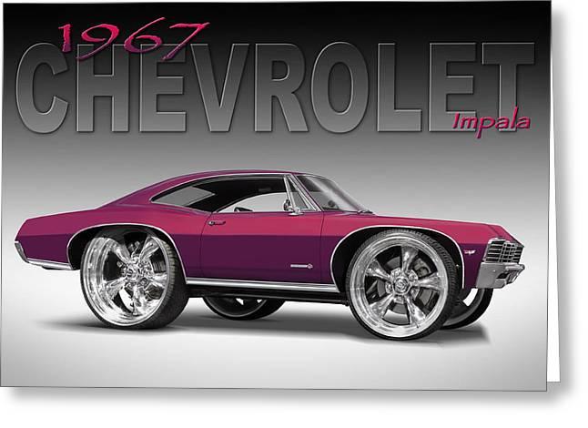 67 Chevrolet Impala Greeting Card by Mike McGlothlen