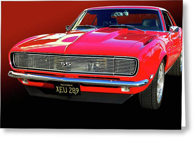 Slammer Greeting Cards - 68 SS Camaro Greeting Card by Bill Dutting