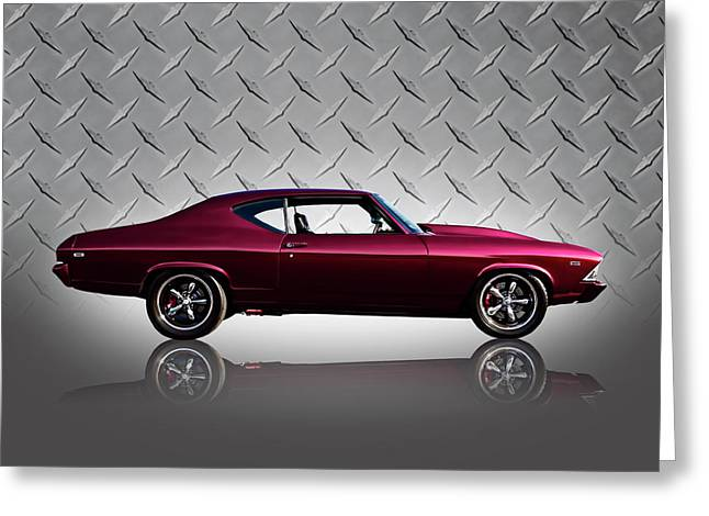 Classic Digital Greeting Cards - 69 Chevelle Greeting Card by Douglas Pittman