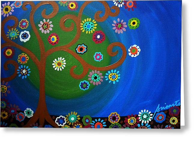 Sementeryo Greeting Cards - Tree Of Life Greeting Card by Pristine Cartera Turkus