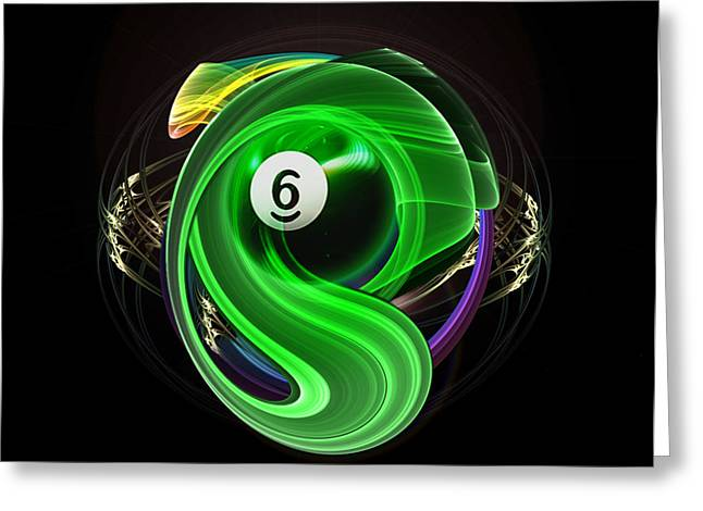 Eightball Greeting Cards - 6TH Grade Greeting Card by Draw Shots