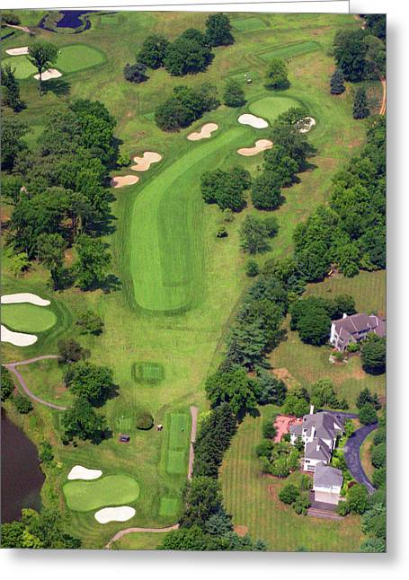 Plymouth Meeting Aerials Greeting Cards - 6th Hole Sunnybrook Golf Club 398 Stenton Avenue Plymouth Meeting PA 19462 1243 Greeting Card by Duncan Pearson