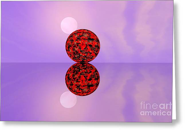 Sweating Digital Art Greeting Cards -  Planets Greeting Card by Odon Czintos
