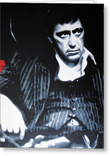 Scarface Greeting Cards - - Scarface - Greeting Card by Luis Ludzska