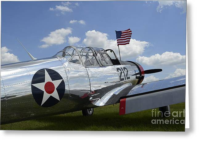 Vultee Bt-13 Valiant Greeting Cards - A Bt-13 Valiant Trainer Aircraft Greeting Card by Stocktrek Images