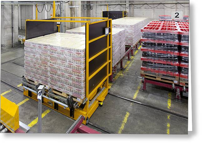 Manufacturing Greeting Cards - A Modern Brewery Warehouse In Estonia Greeting Card by Jaak Nilson