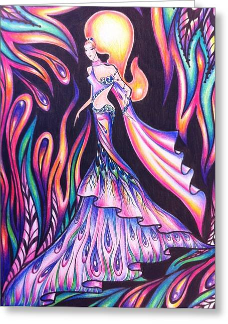 Fashion Pictures For Sale Greeting Cards - Abstract  Drawings Greeting Card by Natasha Russu