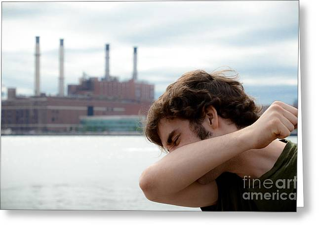 Blows Air Greeting Cards - Allergies Greeting Card by Photo Researchers