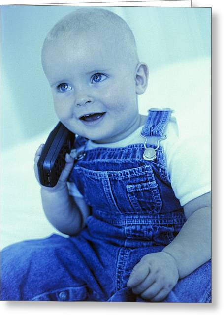 Child Care Greeting Cards - Baby Boy Greeting Card by Ian Boddy