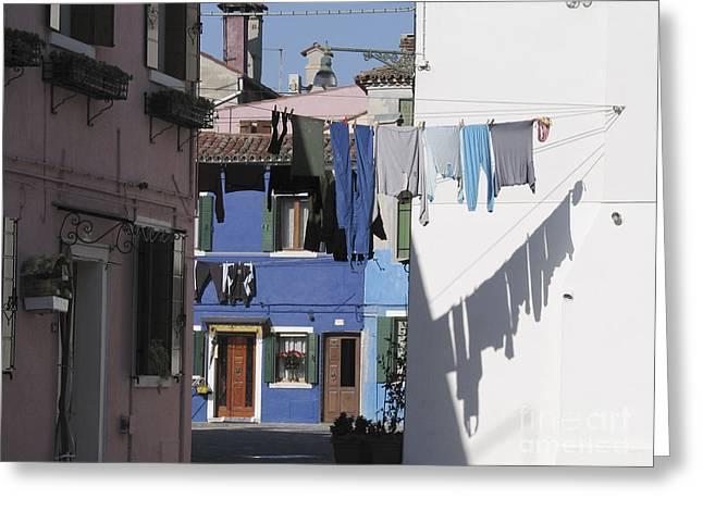 Burano.venice Greeting Card by Bernard Jaubert