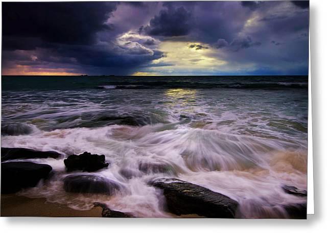 Panoramic Ocean Pyrography Greeting Cards - Burns Beach WA Greeting Card by Imagevixen Photography