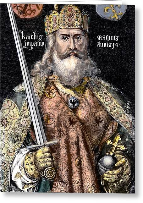 8th Century Greeting Cards - Charlemagne (742-814) Greeting Card by Granger