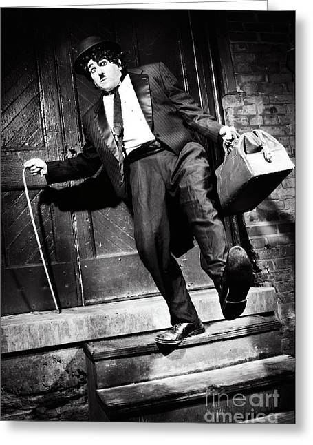 Cultural Failure Greeting Cards - Charlie Chaplin Greeting Card by Oleksiy Maksymenko