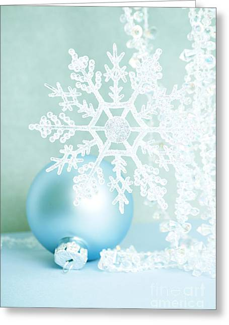 Pastel Green Greeting Cards - Christmas Ornaments Greeting Card by HD Connelly