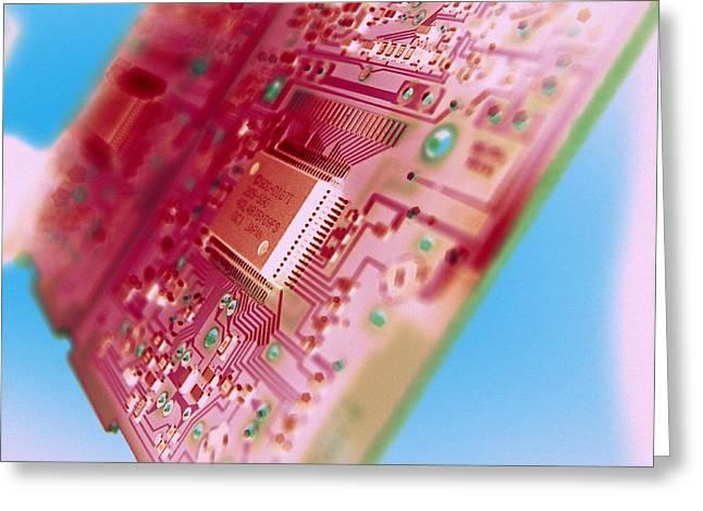 Cpu Greeting Cards - Circuit Board Greeting Card by Tek Image