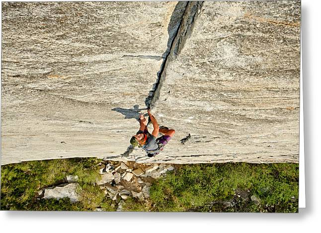 Vertigo Greeting Cards - Climbing Greeting Card by Elijah Weber