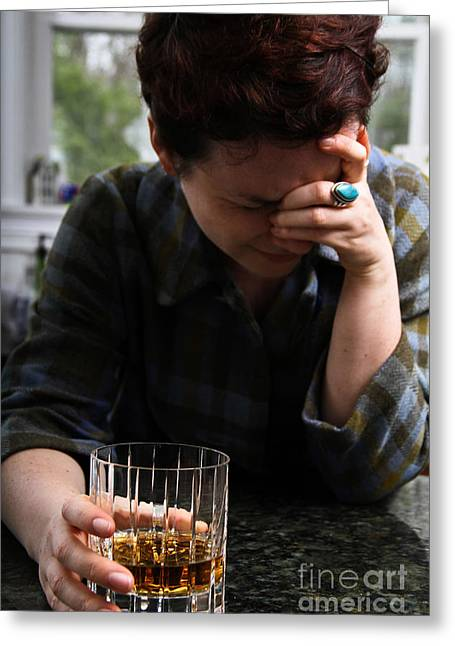 Distraught Greeting Cards - Depression And Addiction Greeting Card by Photo Researchers, Inc.