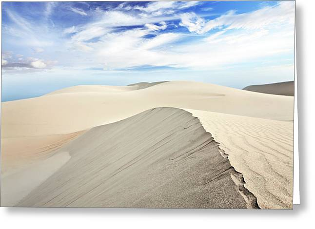 Sand Patterns Greeting Cards - Desert Greeting Card by MotHaiBaPhoto Prints