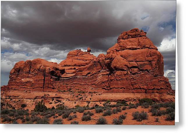 Arch Pastels Greeting Cards - Desert Storm Greeting Card by Southern Utah  Photography