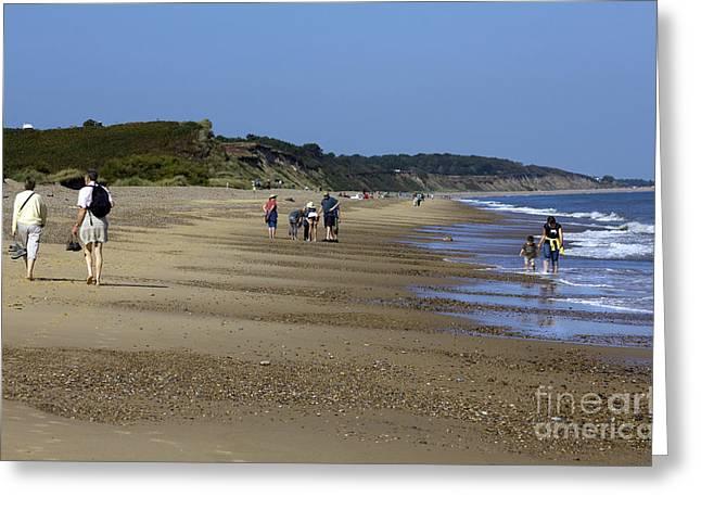 Dunwich Beach Suffolk. Greeting Card by Darren Burroughs