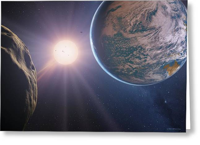 Super Stars Photographs Greeting Cards - Earth-like Planet, Artwork Greeting Card by Detlev Van Ravenswaay