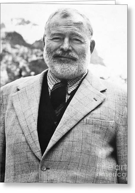 Prized Greeting Cards - Ernest Hemingway Greeting Card by Granger