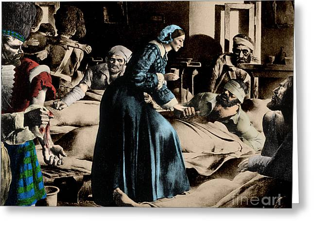 Reformer Photographs Greeting Cards - Florence Nightingale, English Nurse Greeting Card by Science Source