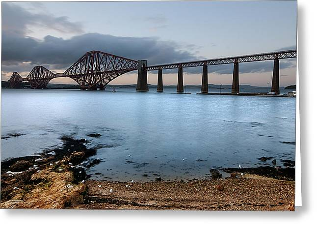 Brdige Greeting Cards - Forth Rail Bridge Greeting Card by Keith Thorburn LRPS