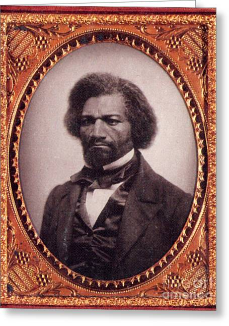 Black Man Greeting Cards - Frederick Douglass African-american Greeting Card by Photo Researchers