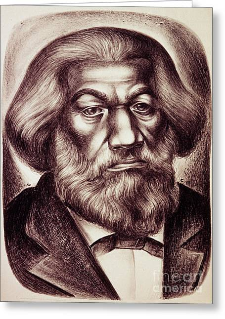 Abolition Photographs Greeting Cards - Frederick Douglass Greeting Card by Granger