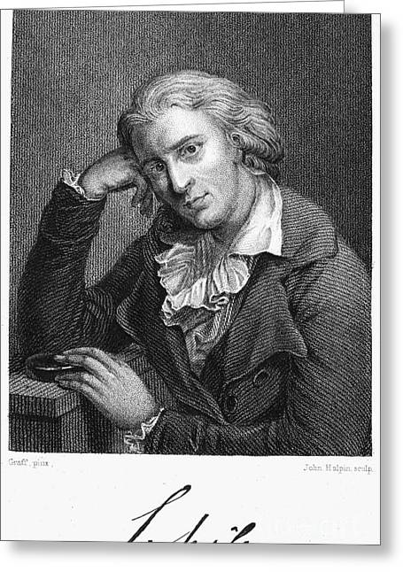 Autograph Greeting Cards - Friedrich Schiller Greeting Card by Granger