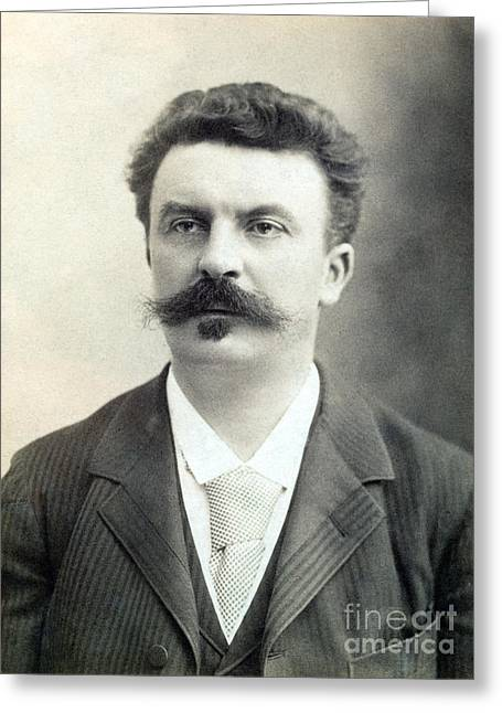 Patch Greeting Cards - GUY de MAUPASSANT Greeting Card by Granger