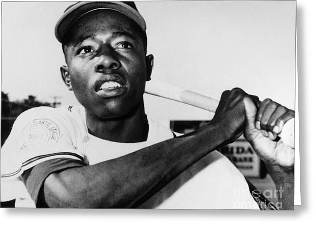 Hank Aaron Greeting Cards - Hank Aaron (1934- ) Greeting Card by Granger