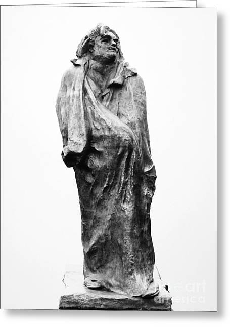 Statue Portrait Greeting Cards - HONORE de BALZAC (1799-1850) Greeting Card by Granger