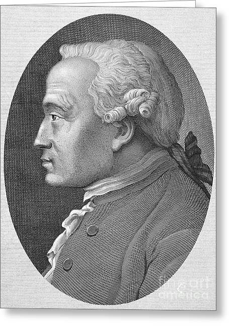 Oval Photographs Greeting Cards - Immanuel Kant (1724-1804) Greeting Card by Granger