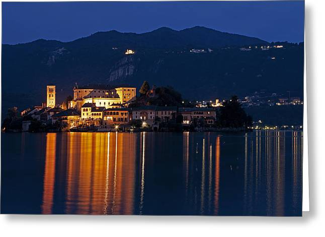Island Of San Giulio Greeting Card by Joana Kruse