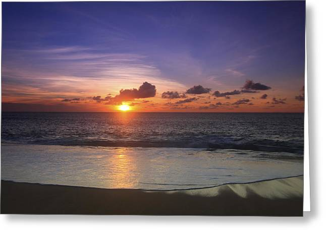 Vince Greeting Cards - North Shore Sunset Greeting Card by Vince Cavataio - Printscapes