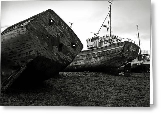 Alga Greeting Cards - Old abandoned ships Greeting Card by RicardMN Photography