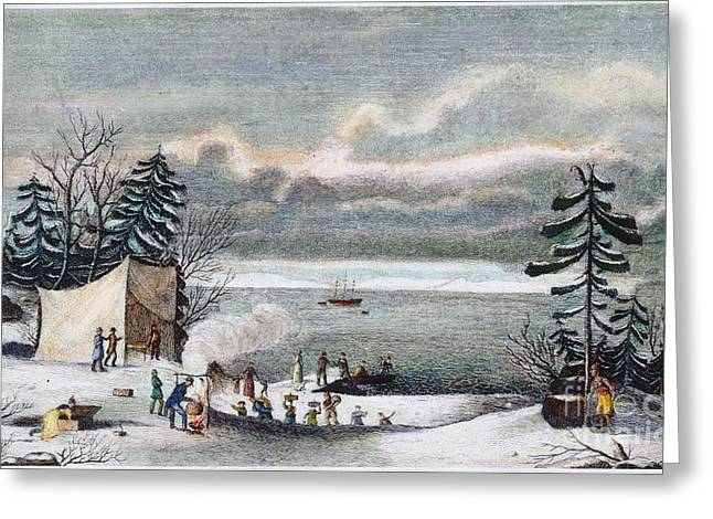 Plymouth Rock Greeting Cards - Plymouth Rock: Landing Greeting Card by Granger