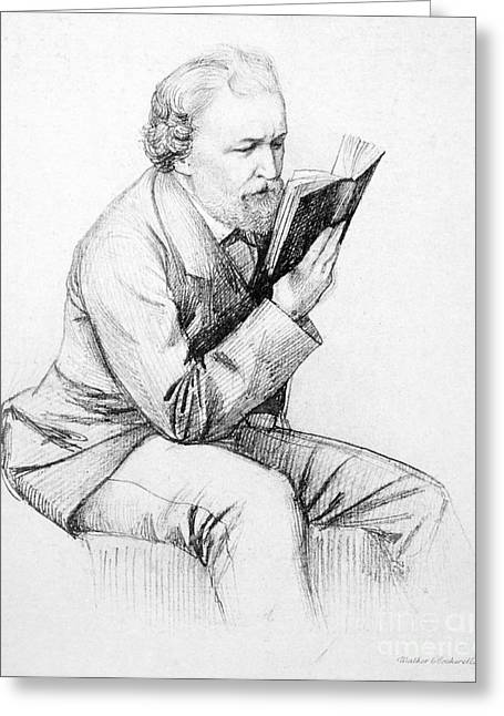 Carlisle Greeting Cards - Robert Browning (1812-1889) Greeting Card by Granger
