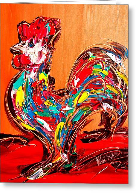 Confederate Monument Paintings Greeting Cards - Rooster Greeting Card by Mark Kazav