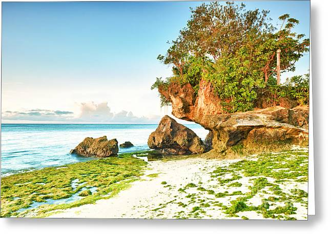 Peaceful Scene Greeting Cards - Seascape Greeting Card by MotHaiBaPhoto Prints