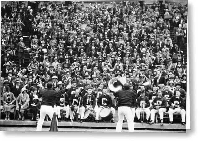 Bandleader Greeting Cards - Silent Film Still: Sports Greeting Card by Granger